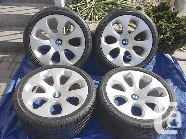 4 bmw 19 staggered 5 6 7 x5 series rims runflats. Black Bedroom Furniture Sets. Home Design Ideas