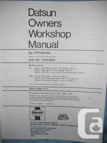 ★ 1978 - 1981 Datsun 510 Repair Service Manual ★