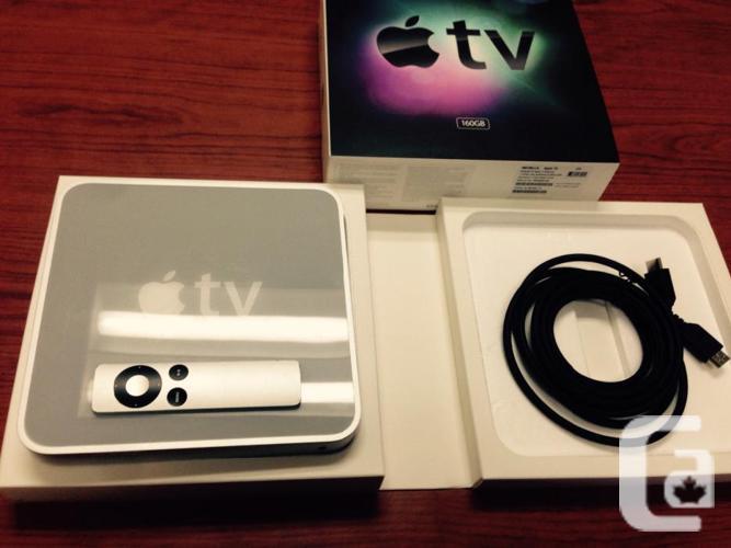 $ 220 APPLE-TV 1 era 160GB 1080p