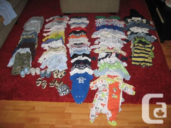 0-6 month baby boy clothes - $5