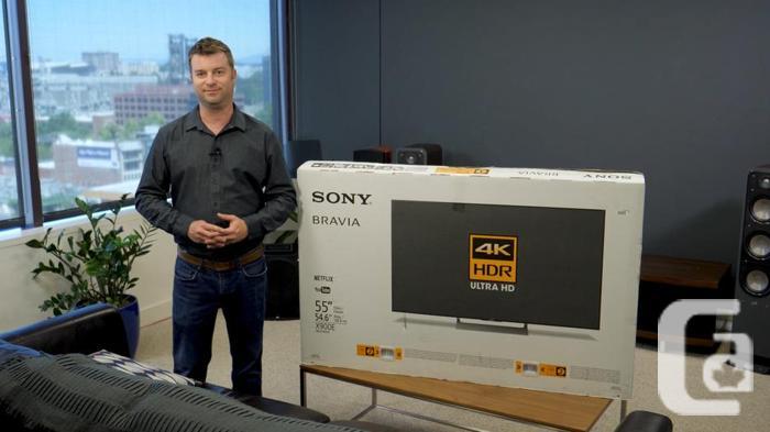 1 week old- BRAND NEW - Sony 4k UHD XBR55x900E