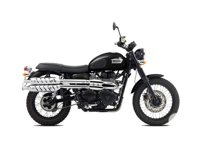 $10,600 2016 Triumph Scrambler Jet Black Motorcycle for
