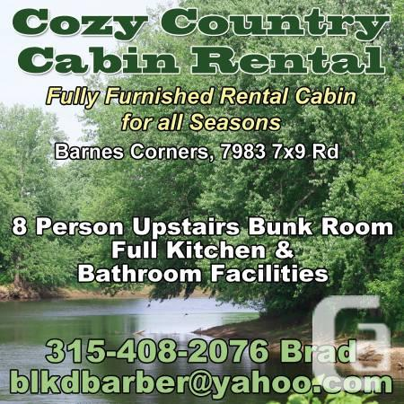 $100 / 1br - $100/ 1BR Cozy Country Cabin Rental