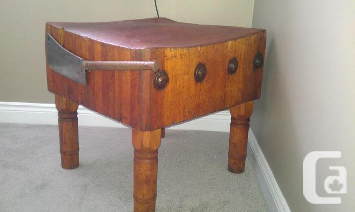 100-year old butcher table