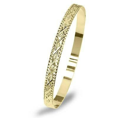 10K gold Bangle - $289