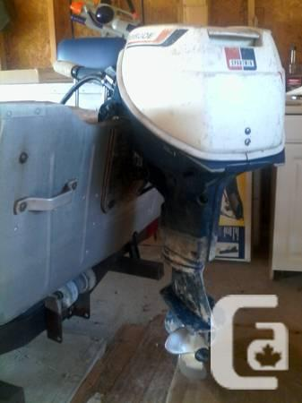 12ft Aluminum Boat, 9hp Motor and Trailer - $1100