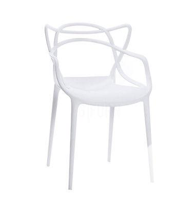 $139 Starck Style Masters Dining Chair   White   Modern
