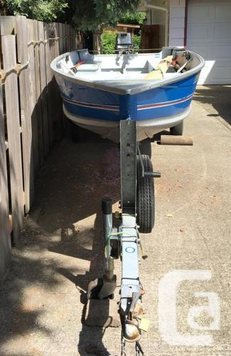14' Aluminum fishing boat with motor and trailer