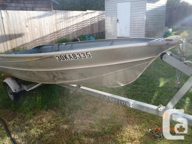 14 Feet Ravitted Aluminum Boat With Motor And Trailer For