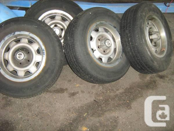 14 in TIRES AND RIMS MUD & SNOW - $50