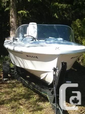 15' Sangstercraft, 70HP Johnson Outboard & Trailer - $750 in Victoria,  British Columbia for sale
