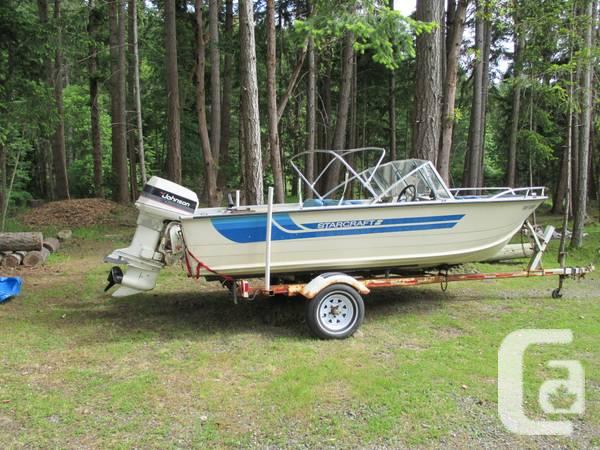 16 39 aluminum starcraft bowrider for sale in nanaimo for Metal craft trailers parts