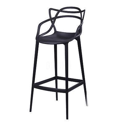 $189 Starck Style Masters Bar Stool | Black | Modern