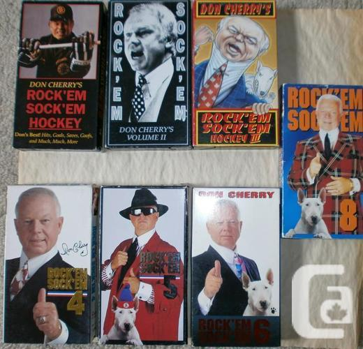 19 Sports VHS Tapes Don Cherry 1-6 NHL Gretzky Browning