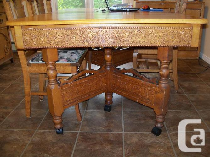 1904 Eatons Solid Maple Kitchen Table And Chairs For Sale In Kinburn Ontario