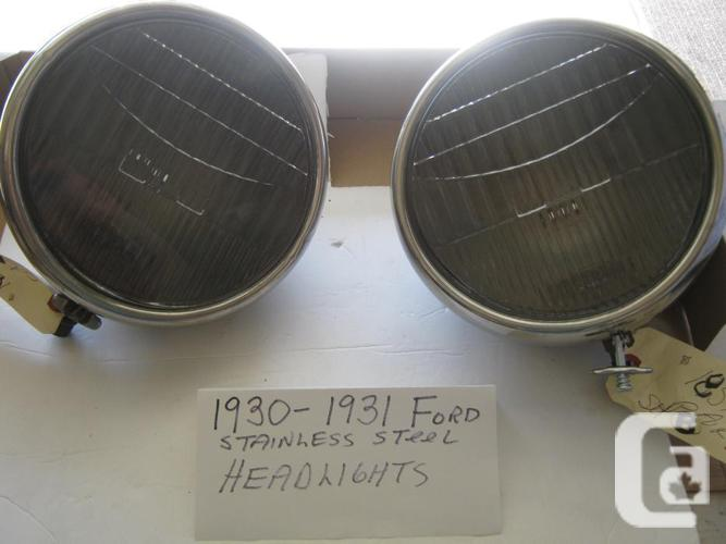 1930-31 Ford Model A Stainless Steel Headlights