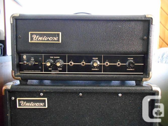 1960 39 s univox d90 2 tube guitar amplifier head 1 x 12 speaker for sale in smiths falls. Black Bedroom Furniture Sets. Home Design Ideas