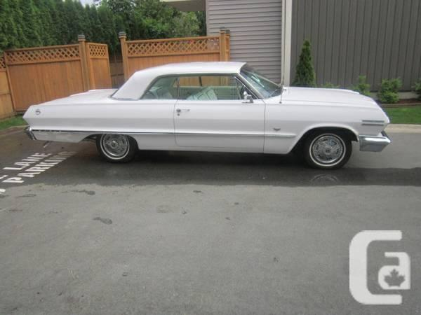 1963 CHEV IMPALA 2DR H/TOP RESTORED MINT - $24500