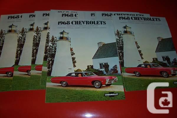 1968 69 GM Dealer Brochures, 68 Corvette Rally wheels