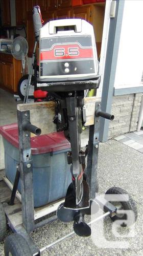 1989 6 5 HP JOHNSON SHORT SHAFT HIGH THRUST OUTBAORD MOTOR in Victoria,  British Columbia for sale