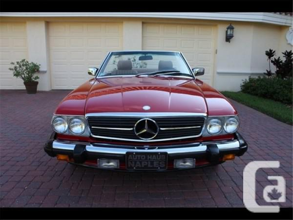 1989 mercedes benz 560sl convertible for sale for sale in for Mercedes benz for sale ontario