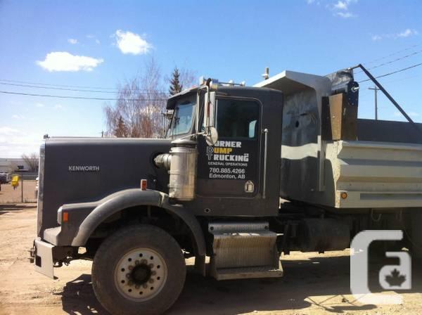 1990 kenworth tandem axel dump truck - $32000