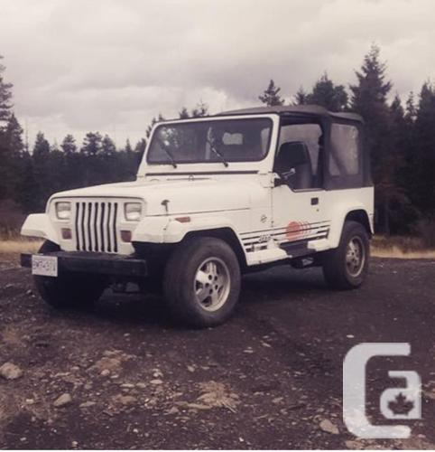 1991 jeep yj islander edition for sale in nanaimo british. Black Bedroom Furniture Sets. Home Design Ideas