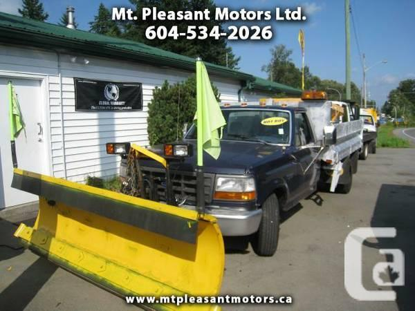 Mt Pleasant Motors >> 1993 Ford F 350 Snow Plow Ex Ubc Truck With Dump And Sander