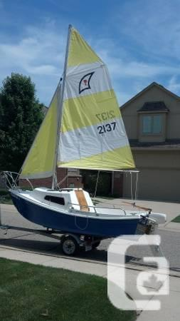 1997 Wight Potter 15' Sailboat - $4300 in Windsor, Ontario for sale