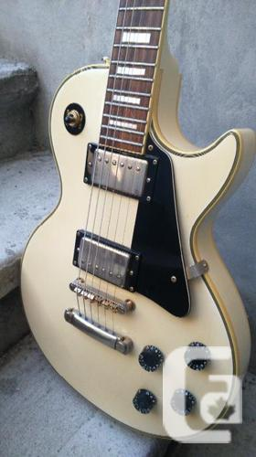 1999 White Gibson Epiphone Les Paul Custom and