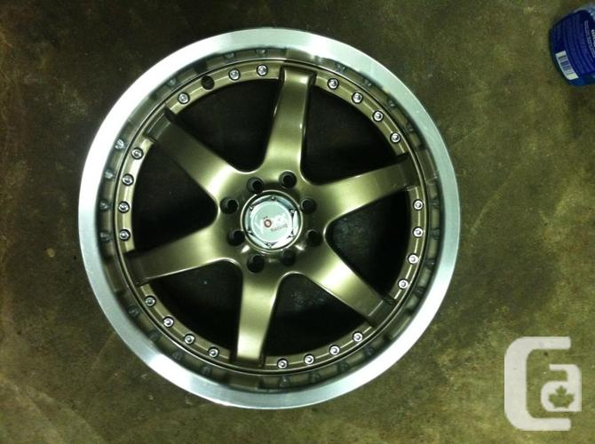 2 brand new Voxx rims, bronze with polished lip