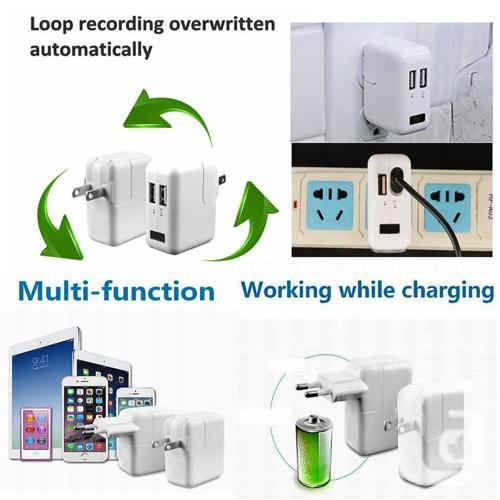2 In 1 Dual USB Charger and 1080P Wi-Fi Hidden Wireless
