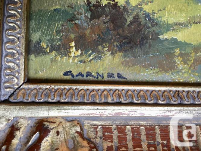 2 Lovely Austrian Alp Oil Paintings signed by Garner