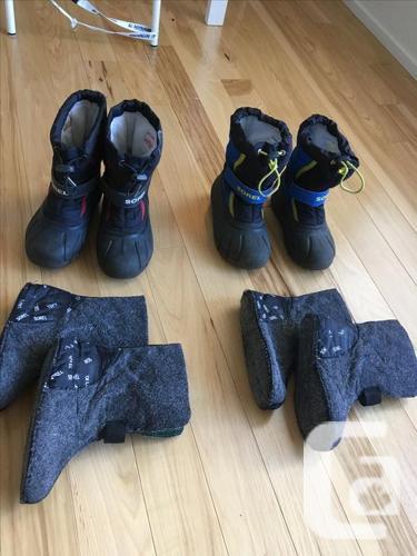 2 pairs Kids Sorel winter snow boots, price each, blue