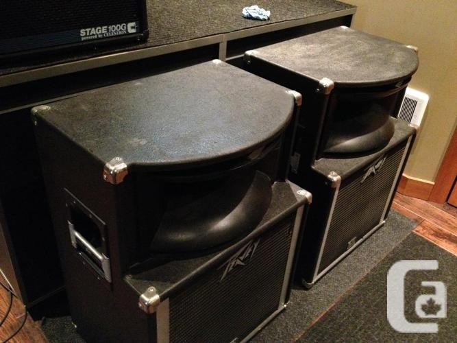 2 peavey sp2 speaker cabinets for sale in honeymoon bay british columbia classifieds. Black Bedroom Furniture Sets. Home Design Ideas