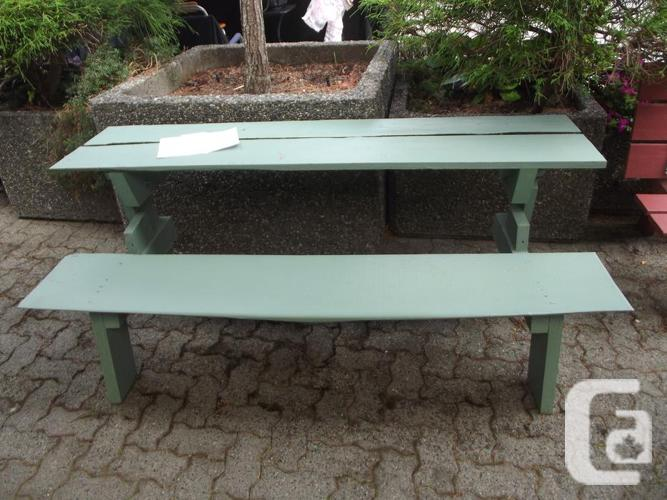 2 Picnic Table Converts To Bench For Sale In Union Bay British Columbia Classifieds