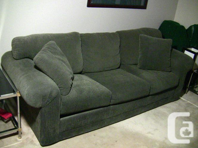 2 piece forest green colour sofa and love seat for sale in. Black Bedroom Furniture Sets. Home Design Ideas