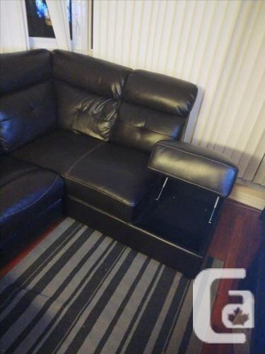 2 Piece Sectional Leather Recliner Sofa with daybed (L
