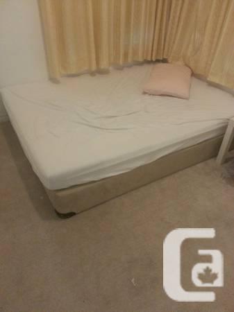 2 QUEEN Size Mattresses Bed Box & Frame -- $250 - $250