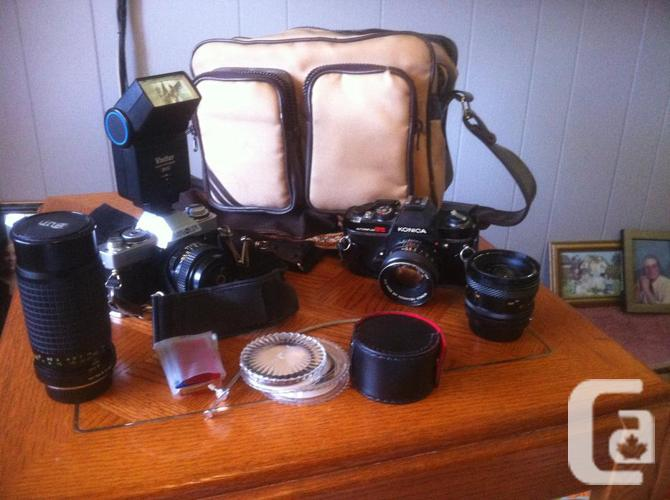 2 SLR Cameras and basic developing setup