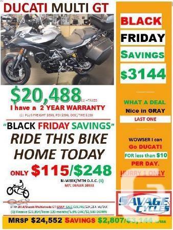 $20,488 2014 Ducati Multistrada 1200 S Granturismo