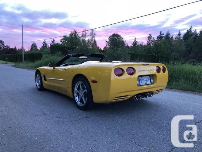 2002 Chevrolet corvette C5 convertible yellow manual