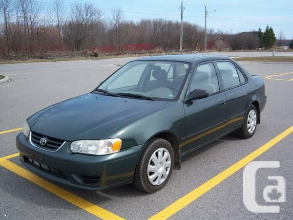 2002 toyota corolla ce for sale in toronto ontario classifieds. Black Bedroom Furniture Sets. Home Design Ideas