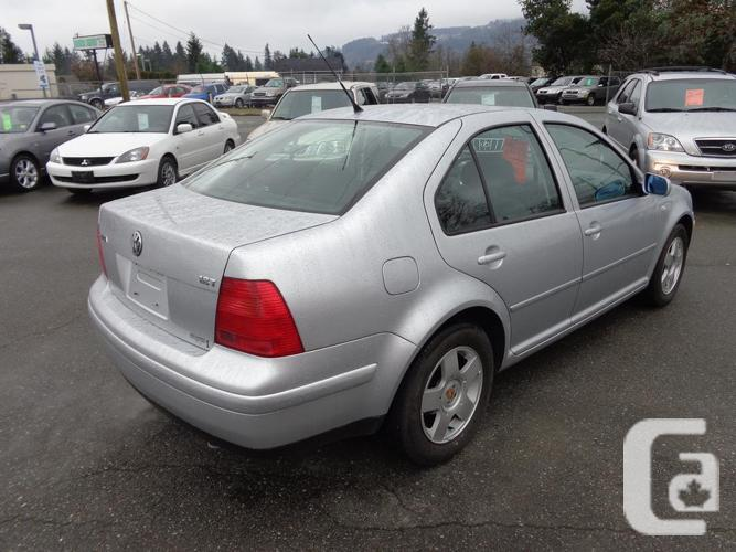 2002 volkswagen jetta 116 kms for sale in nanaimo british columbia classifieds. Black Bedroom Furniture Sets. Home Design Ideas