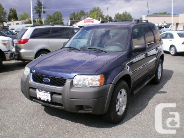 2003 Ford Escape XLT, 4wd, 2 year power train warranty,