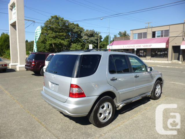 2003 mercedes benz ml350 for sale in victoria british for Mercedes benz roadside assistance free