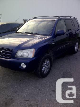 2003 Toyota Highlander - $6900