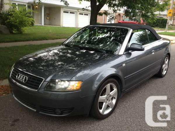 2004 audi a4 3 0l convertible no accident for sale in toronto ontario classifieds. Black Bedroom Furniture Sets. Home Design Ideas