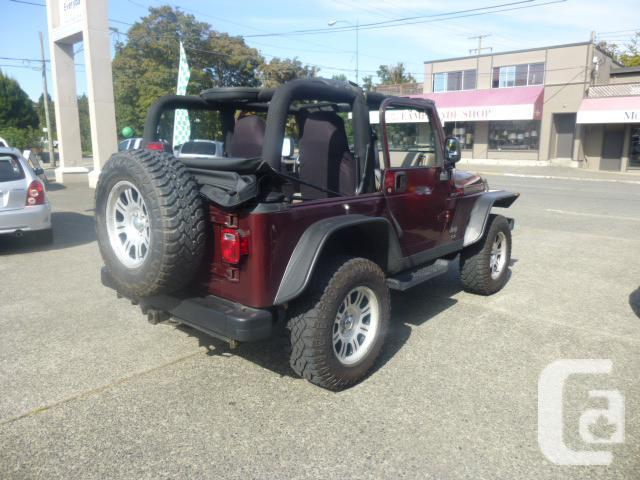 Vehicles Other Automobiles For Sale In Victoria Bc: 2004 Jeep TJ For Sale In Victoria, British Columbia