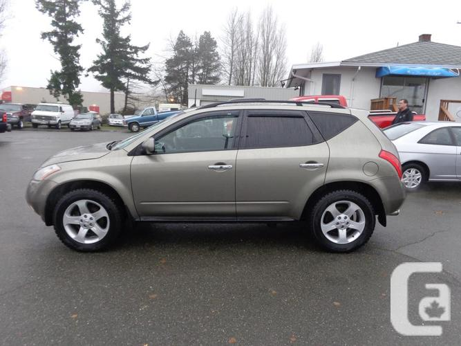2004 nissan murano 4wd new wheels for sale in nanaimo british columbia classifieds. Black Bedroom Furniture Sets. Home Design Ideas
